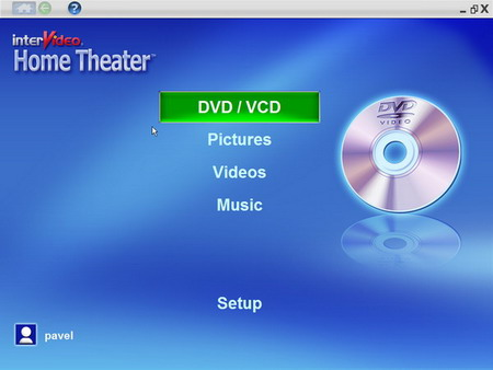 Intervideo Home Theater, DVD